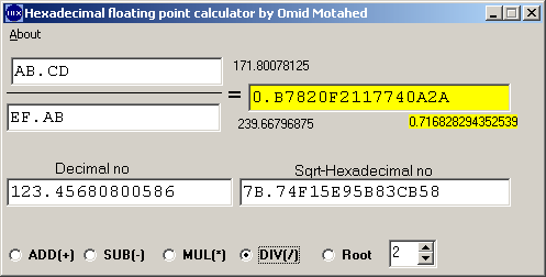 A Floating Point Hexadecimal Calculator The Windows Calculator Has Integer