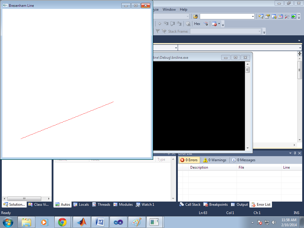 Bresenham Line Drawing Algorithm Visual Basic : Output conclusion computer graphics using opengl