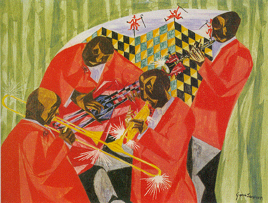 a review of rompre beardens painting jammin at the savoy
