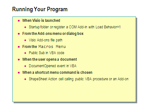 Lab 3 1: Get the Name of an Open Visio Document